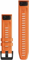 Ремешок для Fenix 6 22mm QuickFit Ember Orange Silicone bands (010-12863-01)