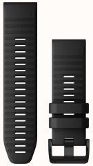 Ремешок для Fenix 6x 26mm QuickFit Black Silicone bands (010-12864-00)